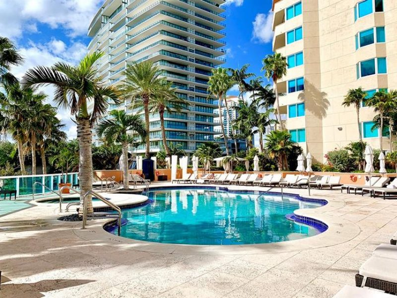 Portofino Tower is a luxury condo building located in the South of Fifth neighborhood of South Beach in South Florida.